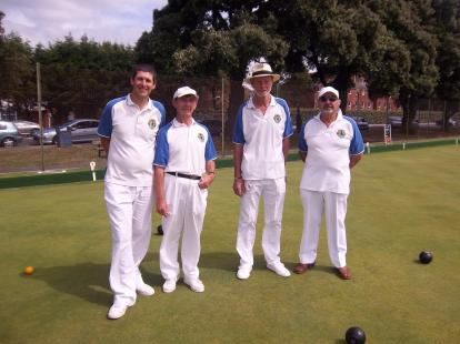 Competitors in the Men\'s Pairs final 2013
