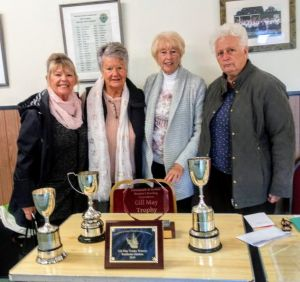 Ladies 2019 Trophy Winners Elaine Lister, Jennie Edgeller, Jill Taylor and Carol Reynolds