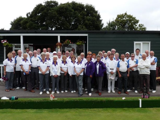 Members get ready to play in a match to celebrate our 90th anniversary.